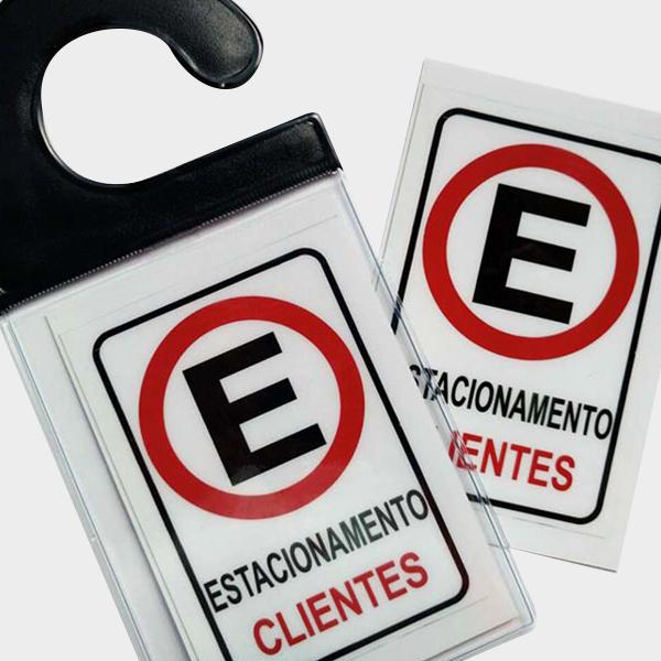 marcador tag de estacionamento