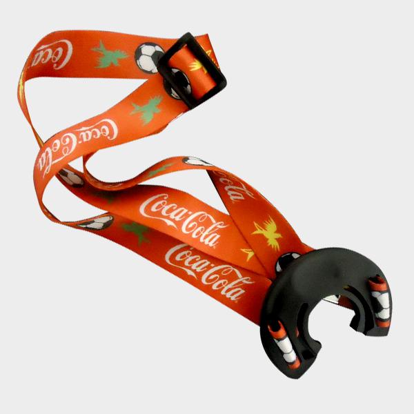 cordão para garrafa coca cola
