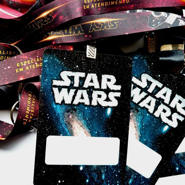 credencial semi sintética star wars