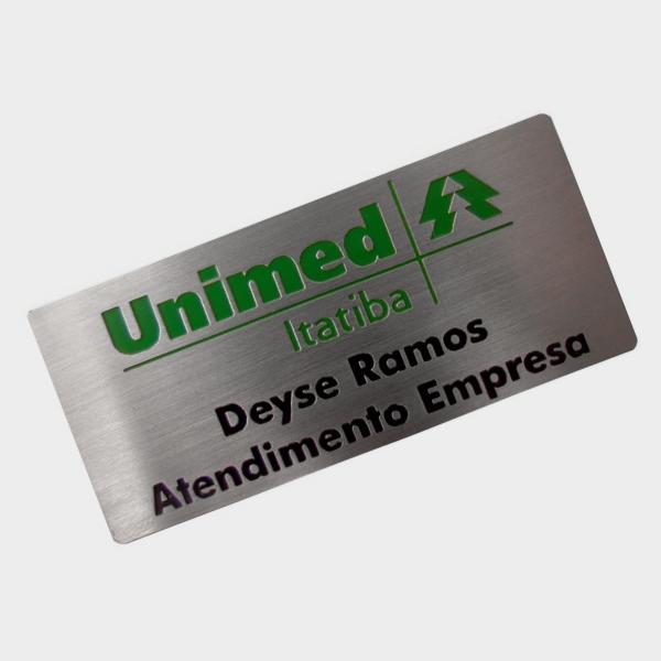 Crachá metal Unimed